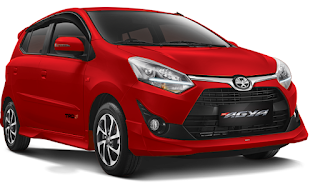 Toyota Agya Warna Red