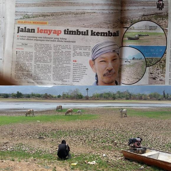 Jalan Lama Kampung Sahabat Tasoh 22 Tahun Hilang Kini Muncul Semula