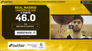 betfair supercuota Real Madrid es campeón de la Liga Endesa 17-18