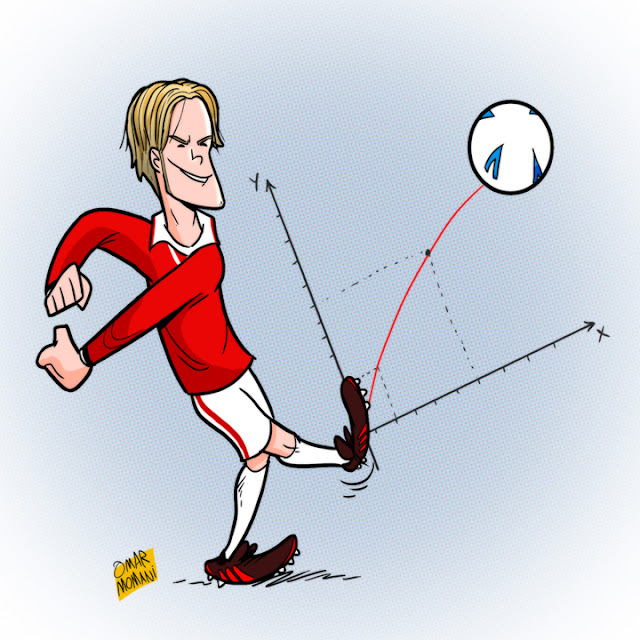 David Beckham cartoon