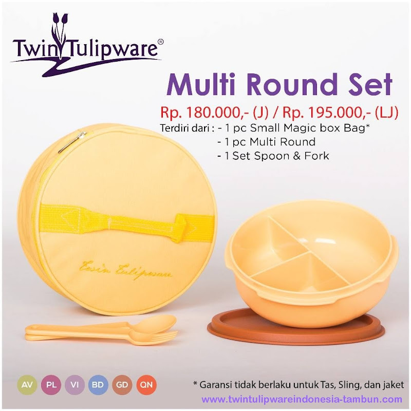 Multi Round Set - Katalog 2017 Twin Tulipware
