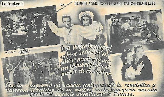 El Hijo de Montecristo - Programa de Cine - Louis Hayward - Joan Bennett - George Sanders
