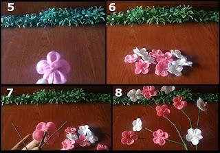 Tutorial Bunga Sakura Cantik dan Indah dari Kain Flanel 2