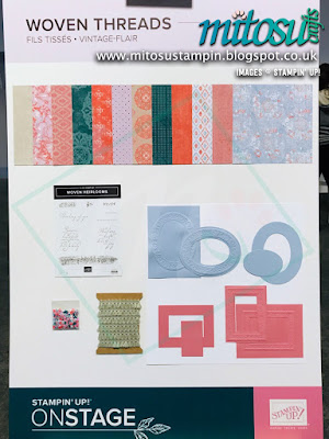 Woven Threads Suite NEW Stampin' Up! Products #onstage2019 Display Board from Mitosu Crafts UK