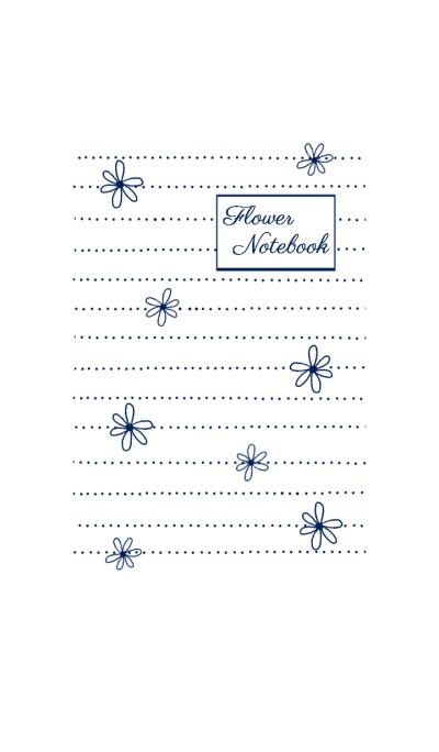 Flower Note*Navy
