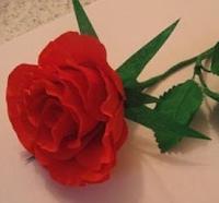 Роза из бумаги по шаблону. МК