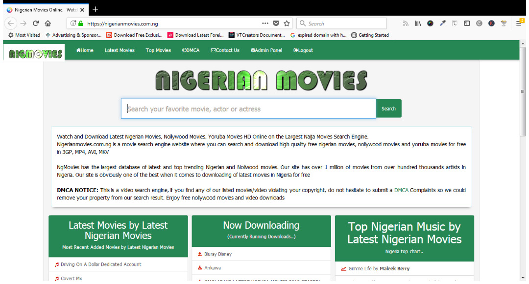 movie search and download engine