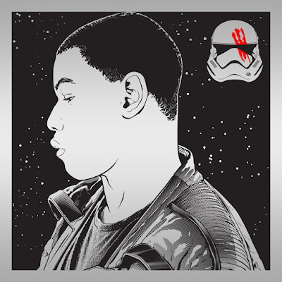 "Star Wars: The Force Awakens ""Finn"" Laser Engraved Print by Joshua Budich"