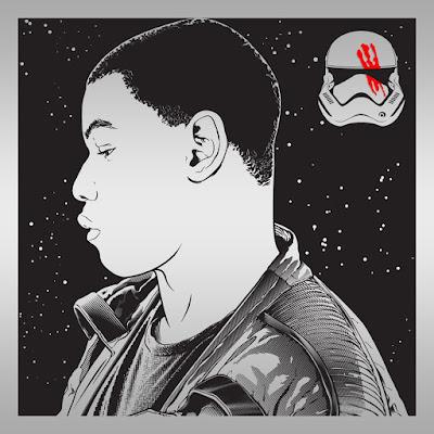 "Star Wars: The Force Awakens ""Finn"" Laser Engraved Print by Joshua Budich"