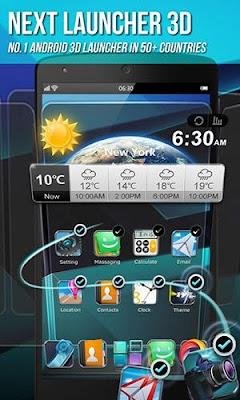 Aplikasi Launcher Android Terbaru Next Launcher 3D