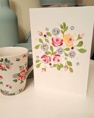 Inspired by Cath Kidston, we love Jackys version - complete with You Can Folk It's Vintage Roses and ladybirds
