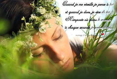 Quand je me réveille je pense à toi et quand je dors, je rêve de ...