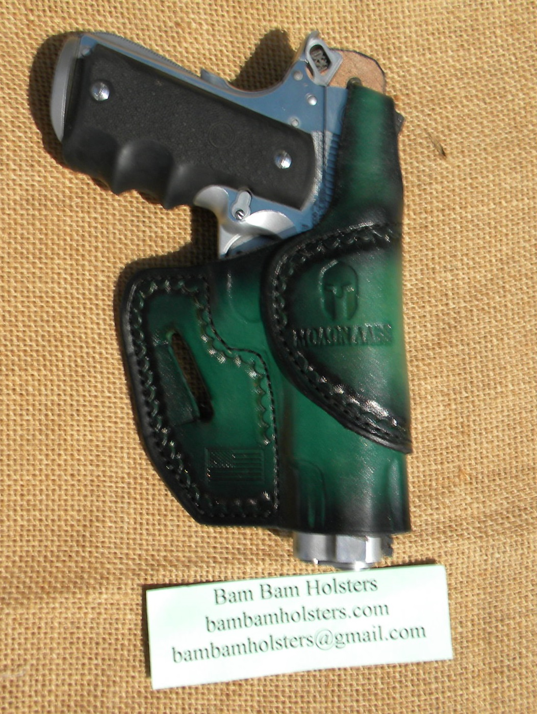 Bam Bam Holsters: Oath Keepers Custom Leather Holster