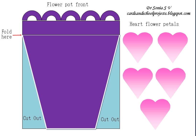 Cards ,Crafts ,Kids Projects: Flower Pot Card And Tutorial