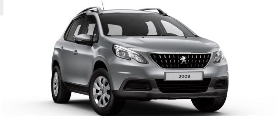 Colori Peugeot 2008 SUV grigio artense