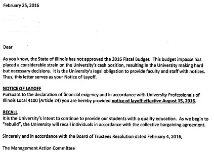 so the university held a press conference prior to officially notifying any of its employees i assume that they would be laid off beginning either april