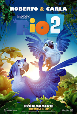 poster of Rio 2 2014 Dual Audio Hindi 720p BluRay HEVC 500MB