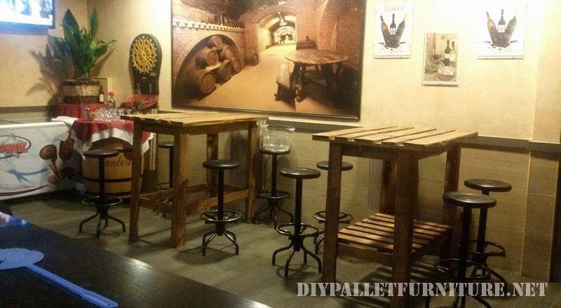 Mesas altas para bar de palets - Mesas altas para bar ...