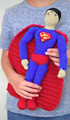 Crochet amigurumi superman doll
