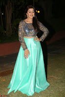 Nikki Galrani in Green Skirt  Top at Marakathamani music launch ~  Exclusive (124).JPG