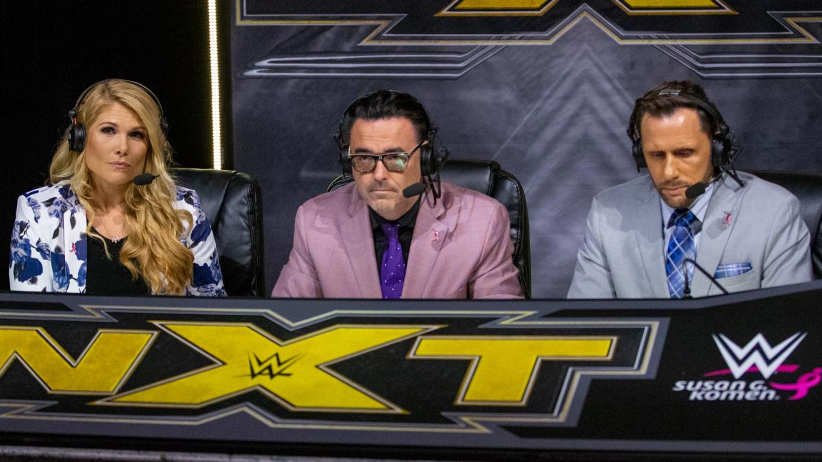 Comentaristas da WWE narraram o NXT de suas casas