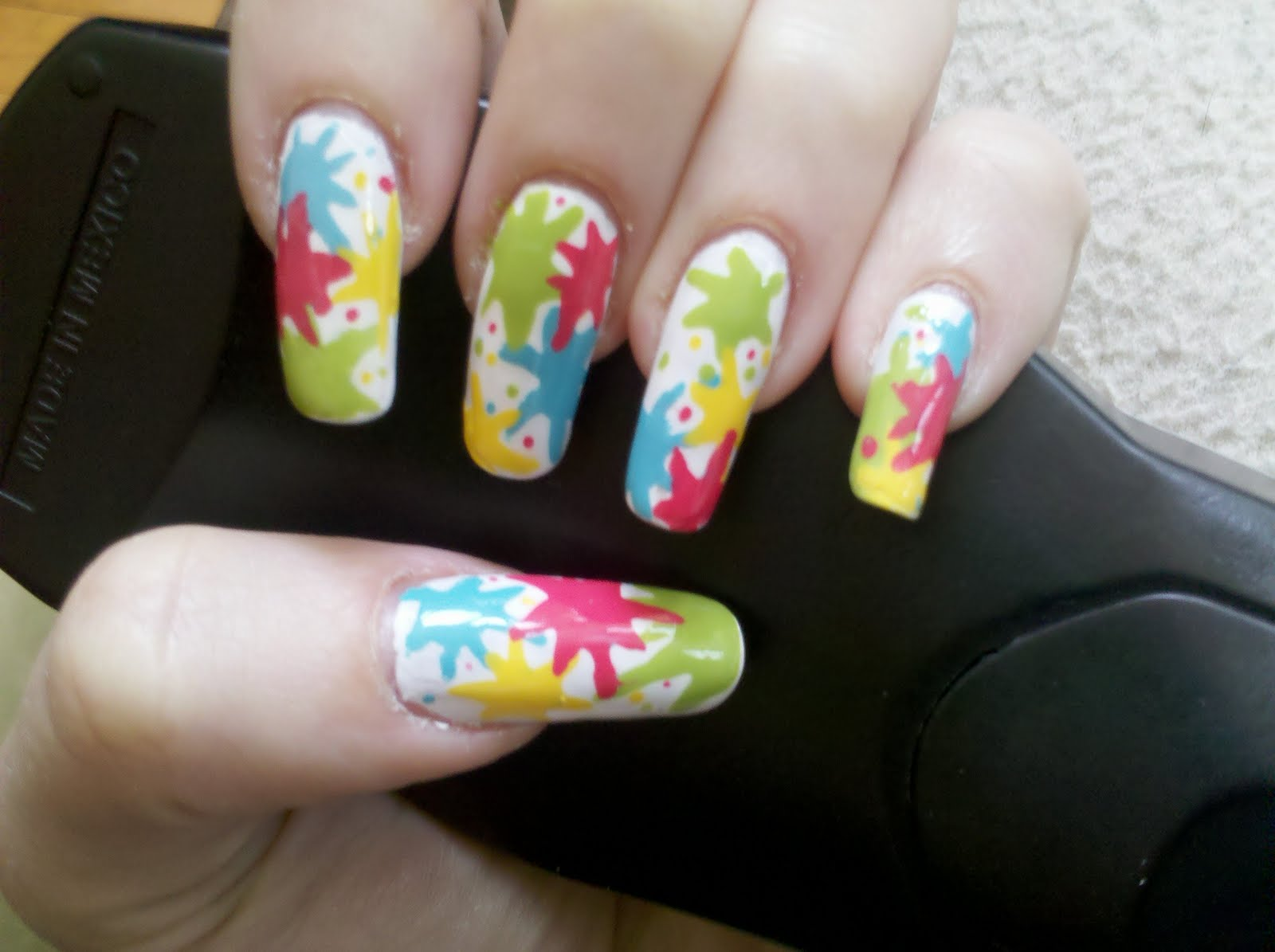 Kateng: Nail Art: Paint Splatter!