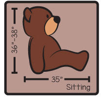 bear measures in sitting position