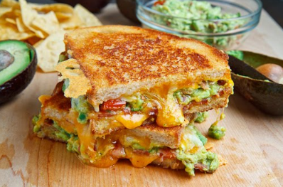 Bacon Guacamole Grilled Cheese Sandwich #vegetable #sandwich