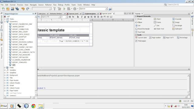 Kelas Informatika - Report Inspector iReport Java