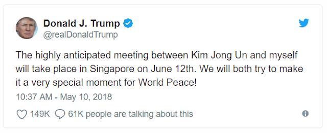 Trump meeting Kim news twitter