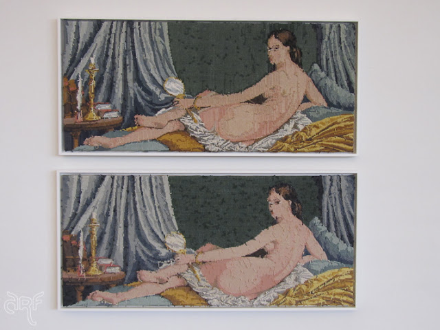 embroidery after a painting of Ingres