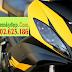 Sơn xe Exciter 2010 màu vàng đen nhám