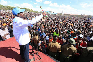 Kalonzo Musyoka in Kajiado insisting people vote for NASA to inorder to be out of troubles. PHOTO | Courtesy