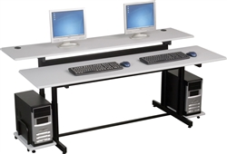 Height Adjustable Workstation for 2 People