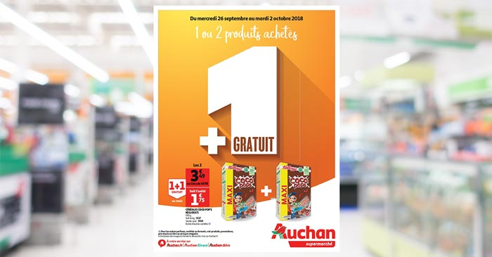 Catalogue Auchan  Du mercredi 26 septembre au mardi 2 octobre 2018