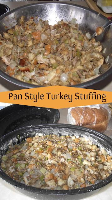 Turkey Stuffing Baked Pan Style