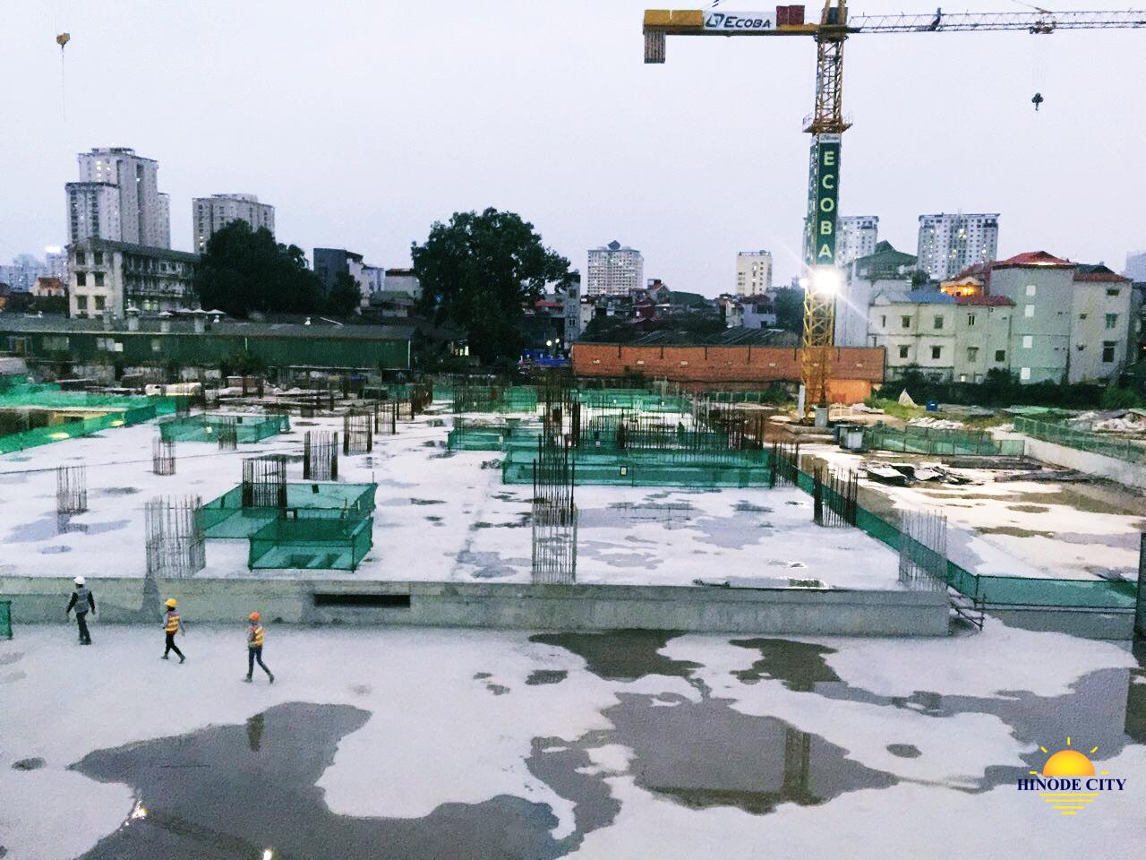 Tiến độ xây dựng công trình dự án Hinode 201 Minh Khai