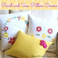 Paint and Sew Pillow Covers