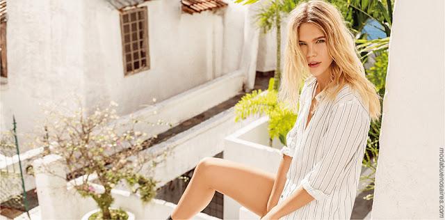 Moda primavera verano 2018 | Tendencias primavera verano 2018. Blusas, camisas y pantalones 2018.