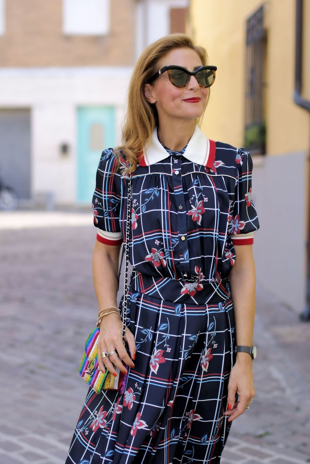 Miu Miu style white collar dress on Fashion and Cookies fashion blog, fashion blogger style
