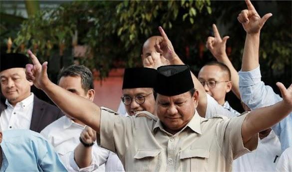 Real Count Sementara di Website KPU: Prabowo 58, Jokowi 41 Persen