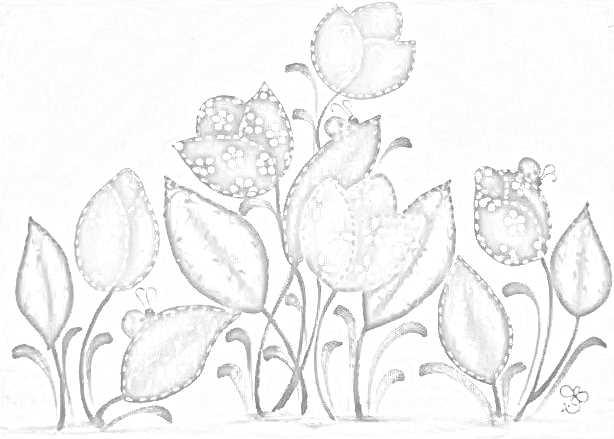 risco pintura em tecido flores pano de prato