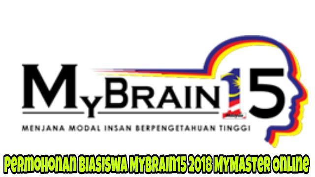 Permohonan Biasiswa MyBrain15 2018 MyMaster Online