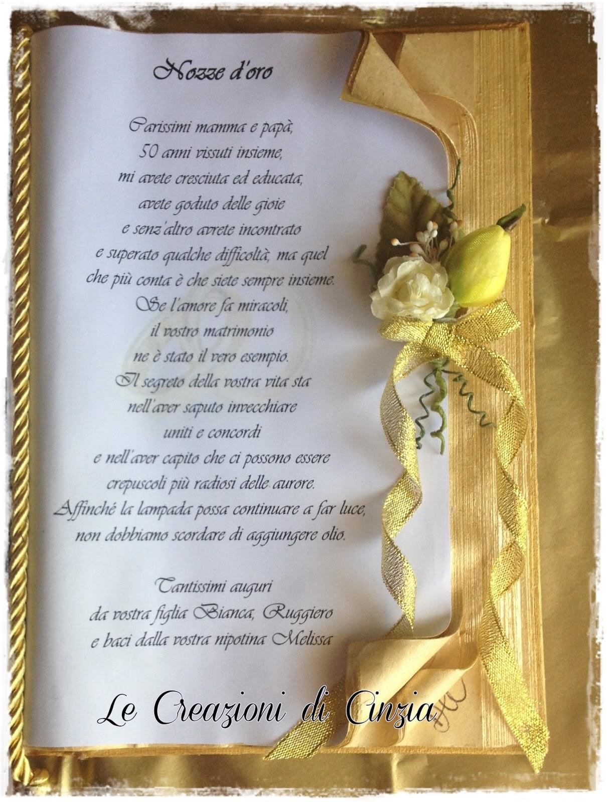 Ben noto LE CREAZIONI DI CINZIA: Nozze d'oro a Milano JD47