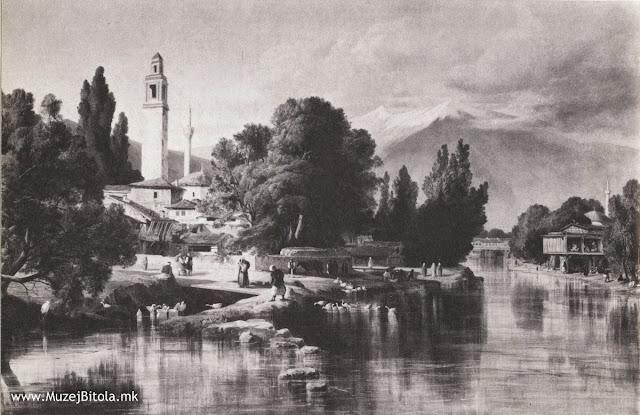 Edward Lear, Битола 1848 година во слика маслена техника изработена од претходен цртеж од истата локација