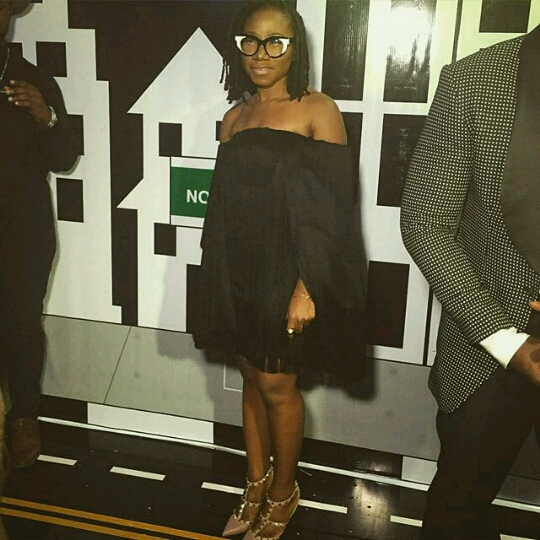 Asa at  premiere Genevieve Nnaji's movie Road to Yesterday.