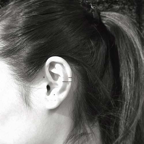 kulak dövmeleri tumblr ear tattoos