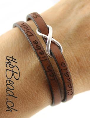 Gravur Armbänder und Lederarmbänder graviert sowie Gravurarmbänder swiss made by thebead schweizer schmuck und lederschmuck onlineshop