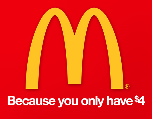 MacDonald - because you only have $4