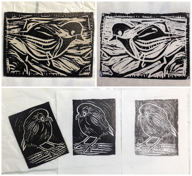 printing linocuts concord art association